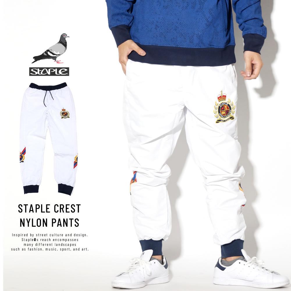 STAPLE ステイプル ナイロンパンツ STAPLE CREST NYLON PANTS 1901B5173