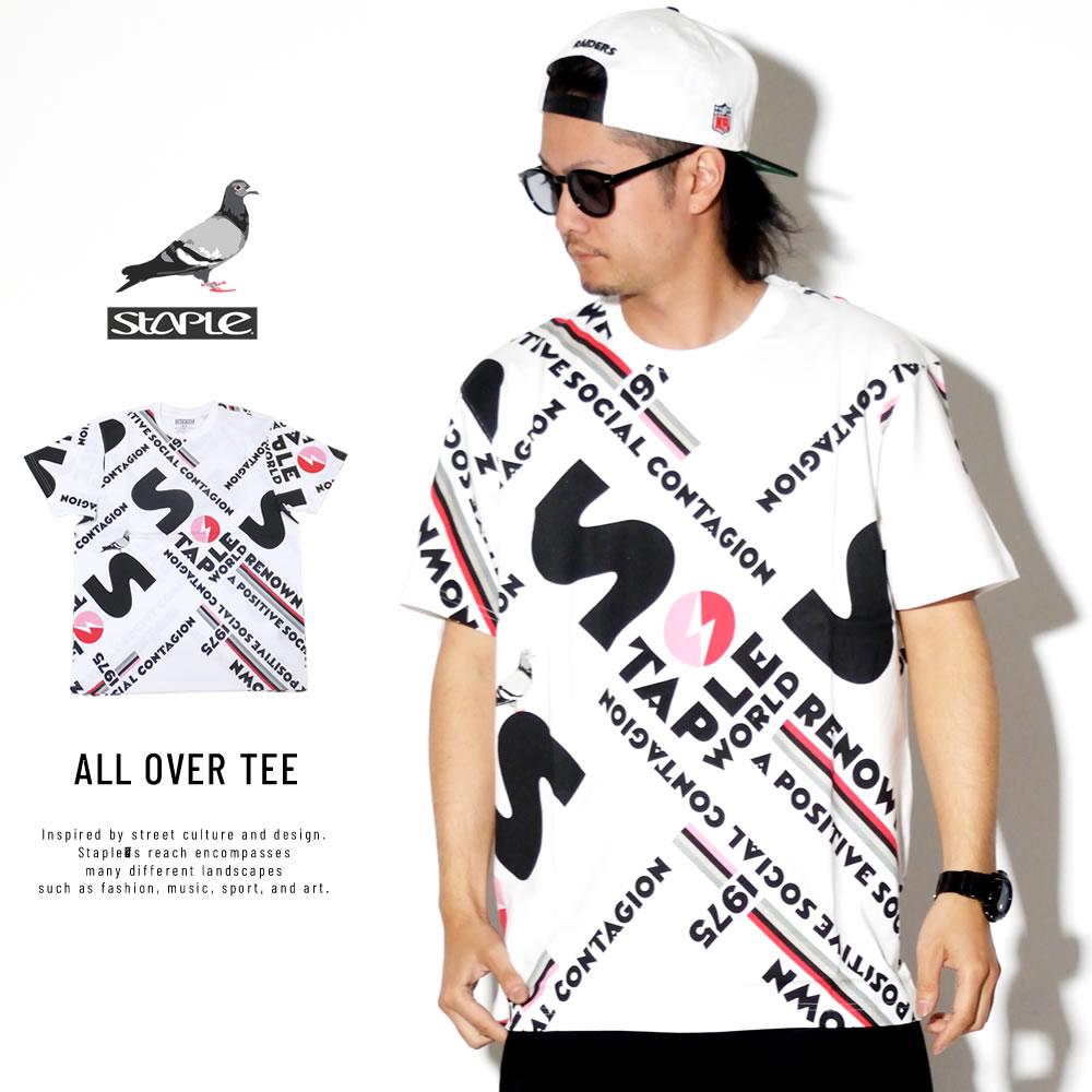STAPLE ステイプル 半袖Tシャツ ALL OVER TEE 1902C10011
