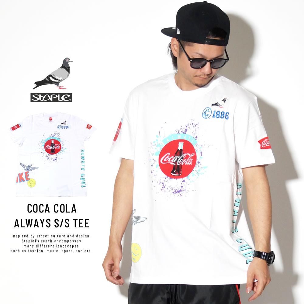 STAPLE ステイプル 半袖Tシャツ COCA COLA ALWAYS S/S TEE 1902C5320