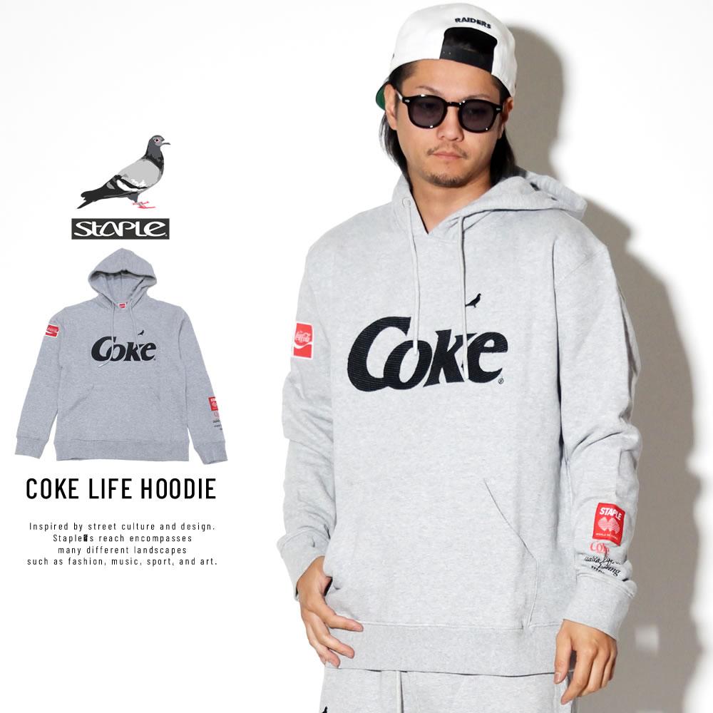STAPLE ステイプル プルオーバーパーカー COKE LIFE HOODIE 1902H5243