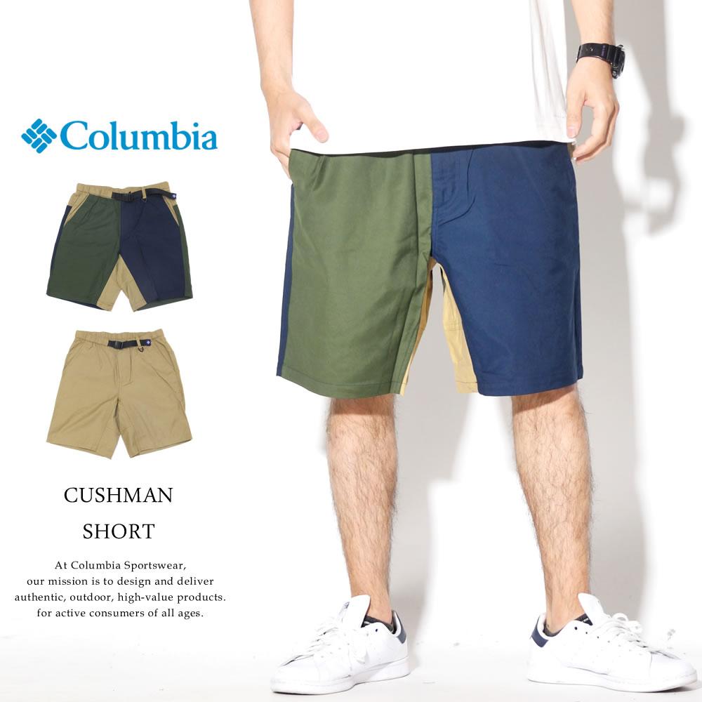 COLUMBIA コロンビア キャンバスハーフパンツ CUSHMAN SHORT PM4953
