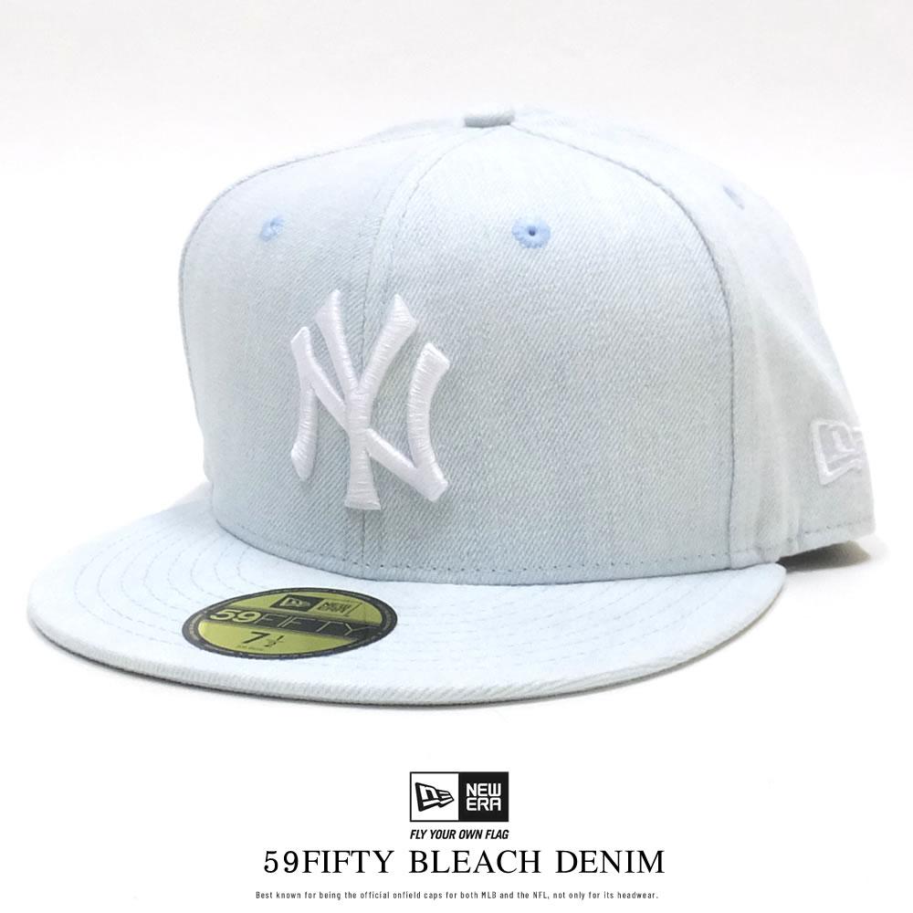 NEW ERA ニューエラ フラットバイザーキャップ 59FIFTY ブリーチデニム ニューヨーク・ヤンキース ブリーチデニム × ホワイト 11901303