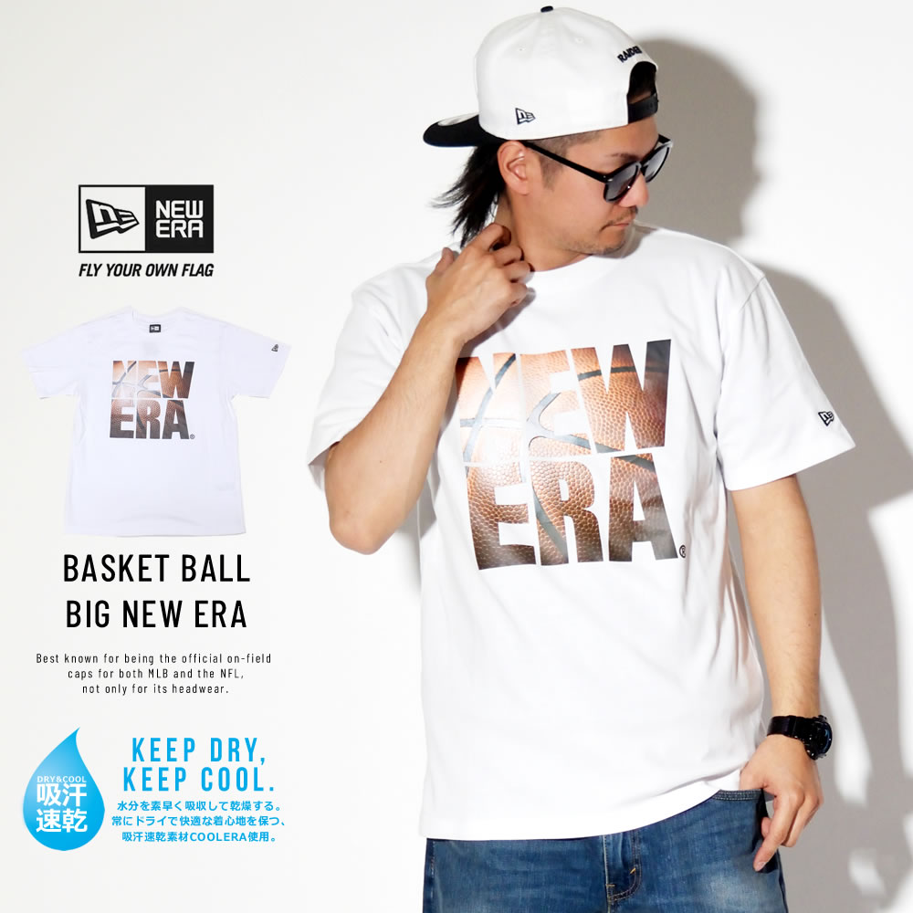 NEW ERA ニューエラ パフォーマンス Tシャツ バスケットボール スクエア ニューエラ ホワイト 11901347