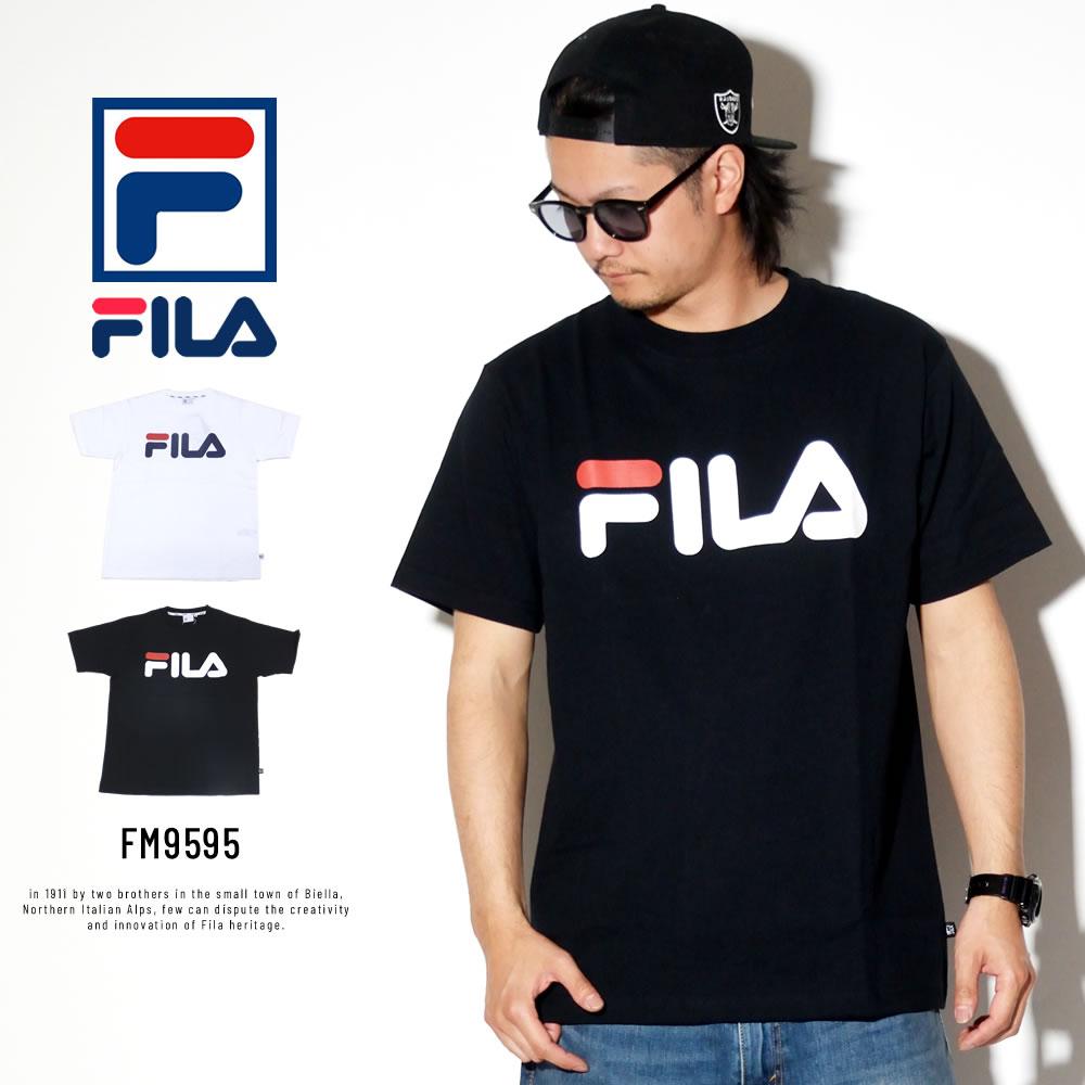 FILA フィラ 半袖Tシャツ ベーシックロゴ プリント FM9595