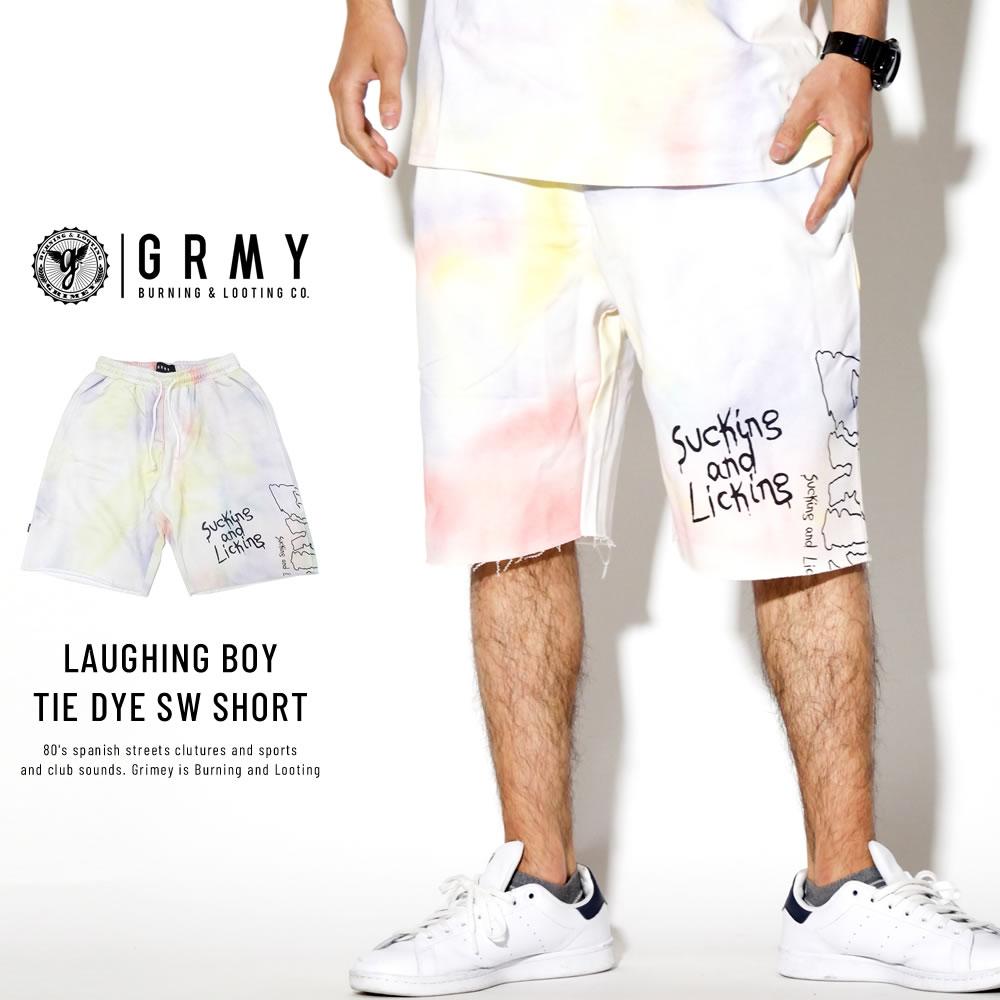 GRIMEY グライミー スウェットハーフパンツ LAUGHING BOY TIE DYE SWEAT SHORTS GSS131