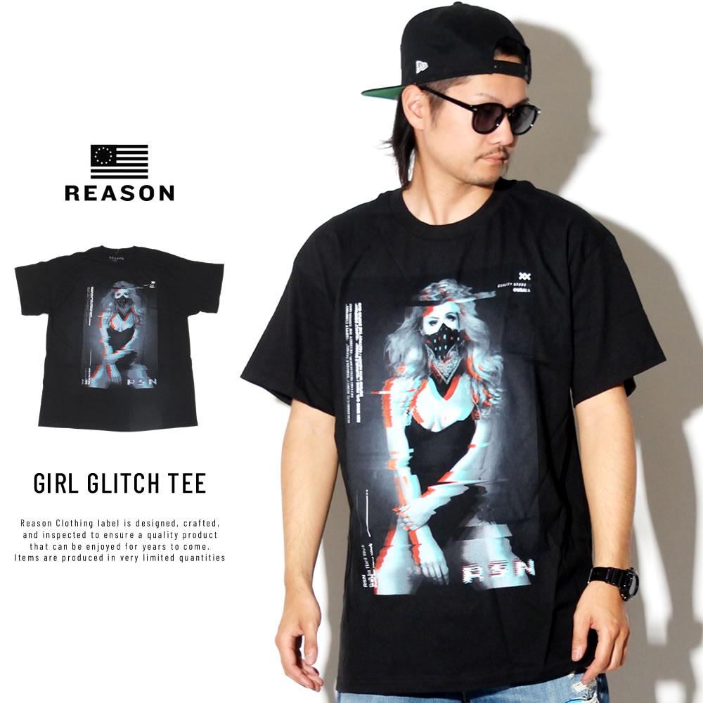 REASON リーズン 半袖Tシャツ T0-149 GIRL GLITCH TEE