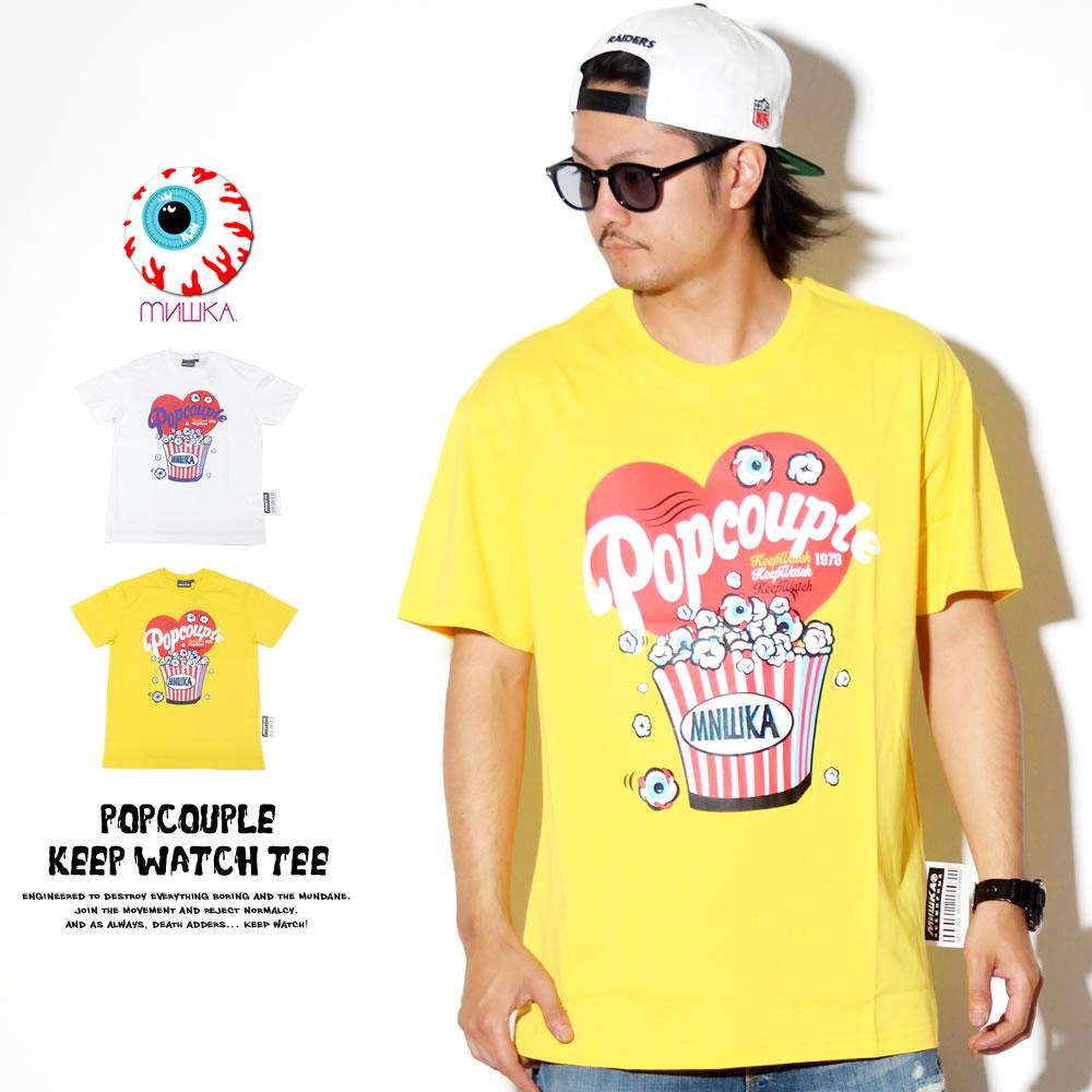 MISHKA ミシカ 半袖Tシャツ POPCOUPLE KEEP WATCH TEE MSS190043