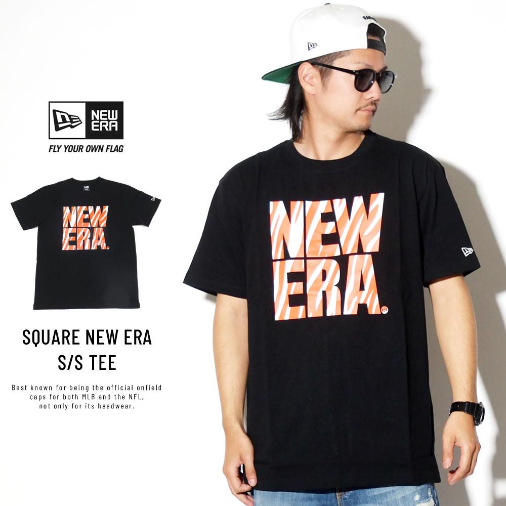 NEW ERA ニューエラ 半袖Tシャツ コットン Tシャツ ゼブラ スクエア ニューエラ ブラック 11900230