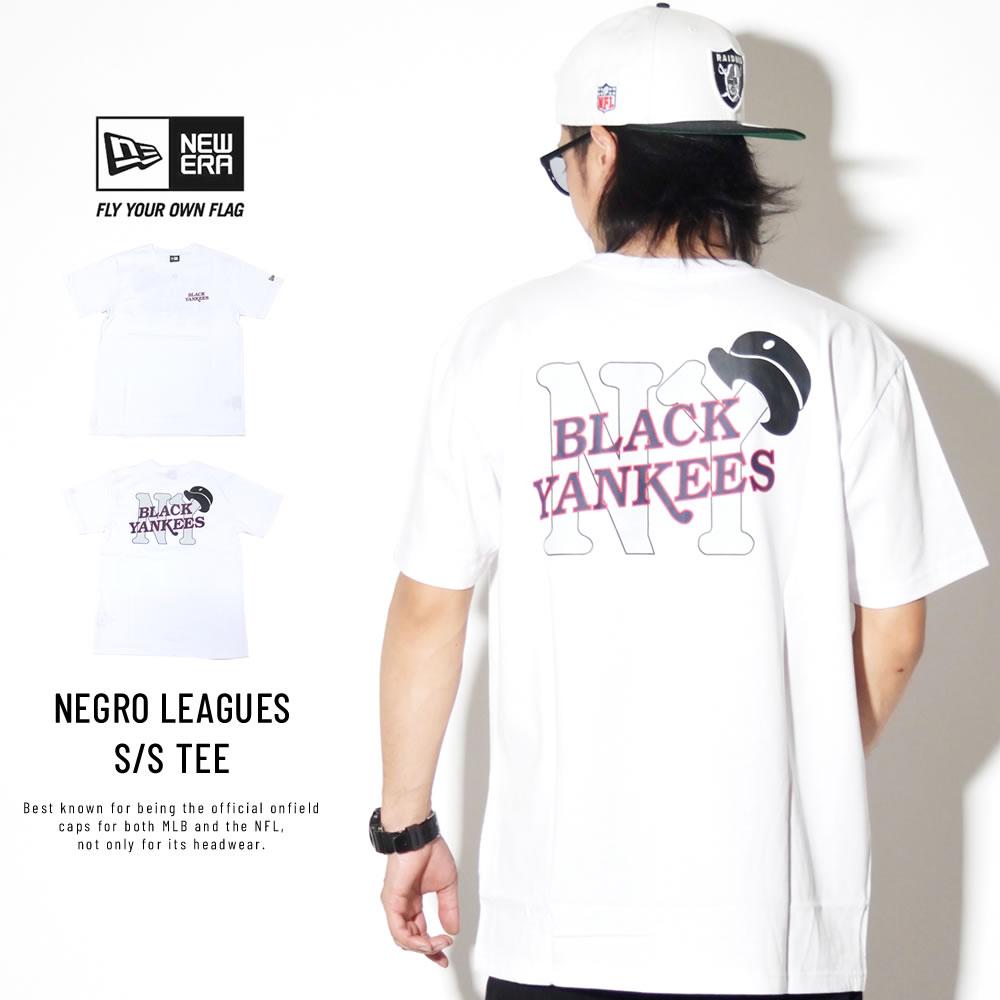 NEW ERA ニューエラ 半袖Tシャツ コットン Tシャツ ニグロリーグ ニューヨーク・ブラックヤンキース ホワイト 11900231