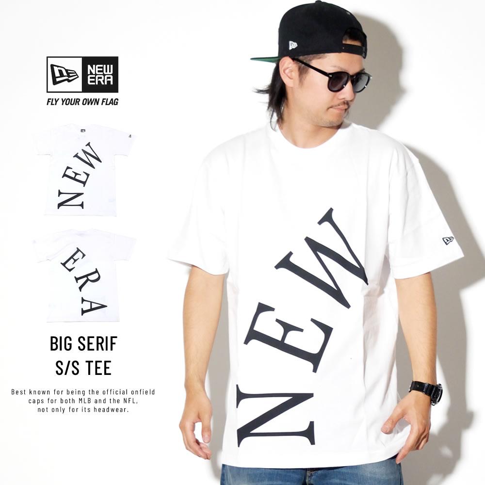 NEW ERA ニューエラ 半袖Tシャツ コットン Tシャツ ビッグセリフ ニューエラ ホワイト 11900240