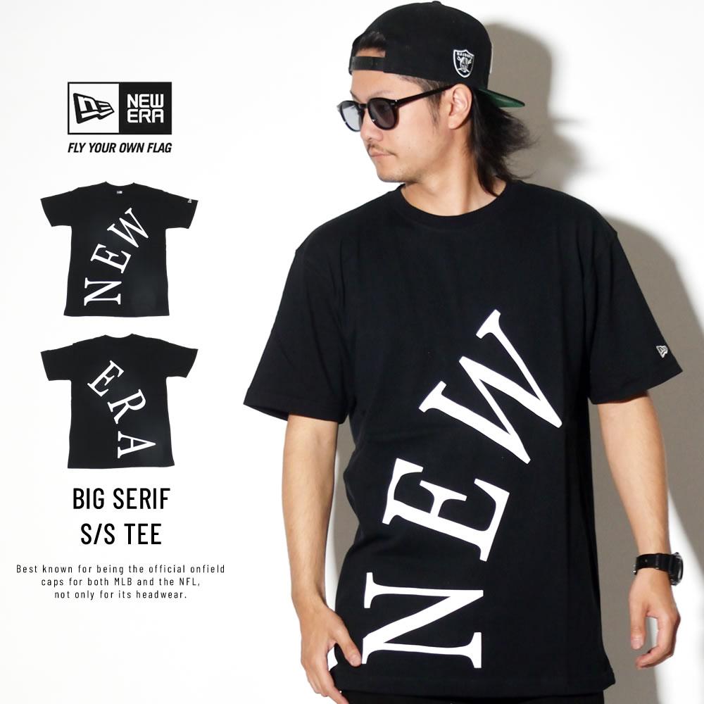 NEW ERA ニューエラ 半袖Tシャツ コットン Tシャツ ビッグセリフ ニューエラ ブラック 11900242