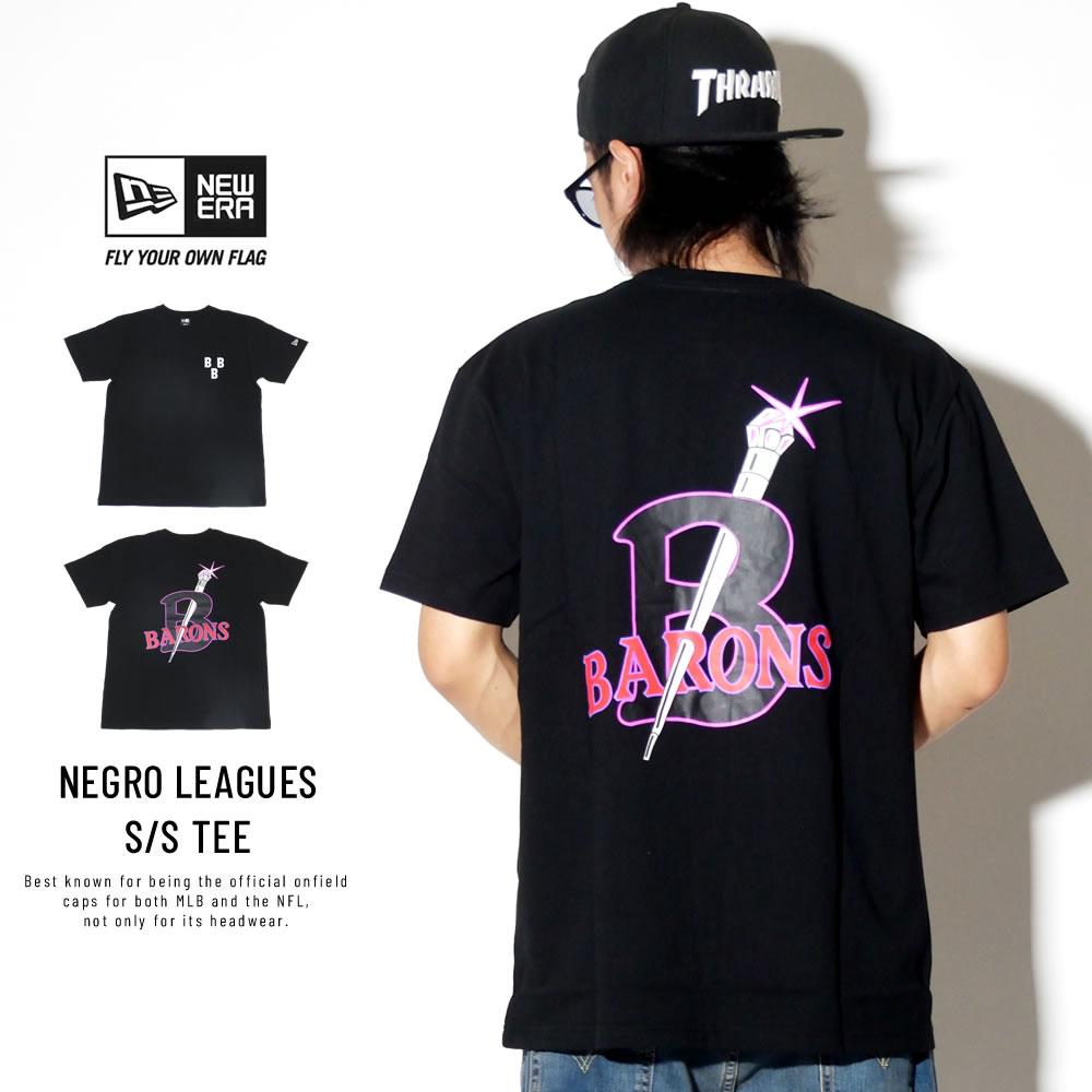 NEW ERA ニューエラ 半袖Tシャツ コットン Tシャツ ニグロリーグ バーミンガム・ブラックバロンズ ブラック 11900244