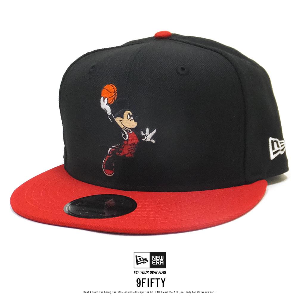 NEW ERA ニューエラ フラットバイザーキャップ 9FIFTY ディズニー バスケットボール ブラック 12048705