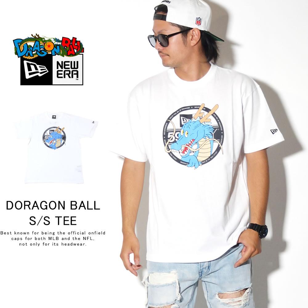 NEW ERA ニューエラ 半袖Tシャツ コットン Tシャツ DRAGONBALL ドラゴンボール バイザーステッカー ホワイト 12110835