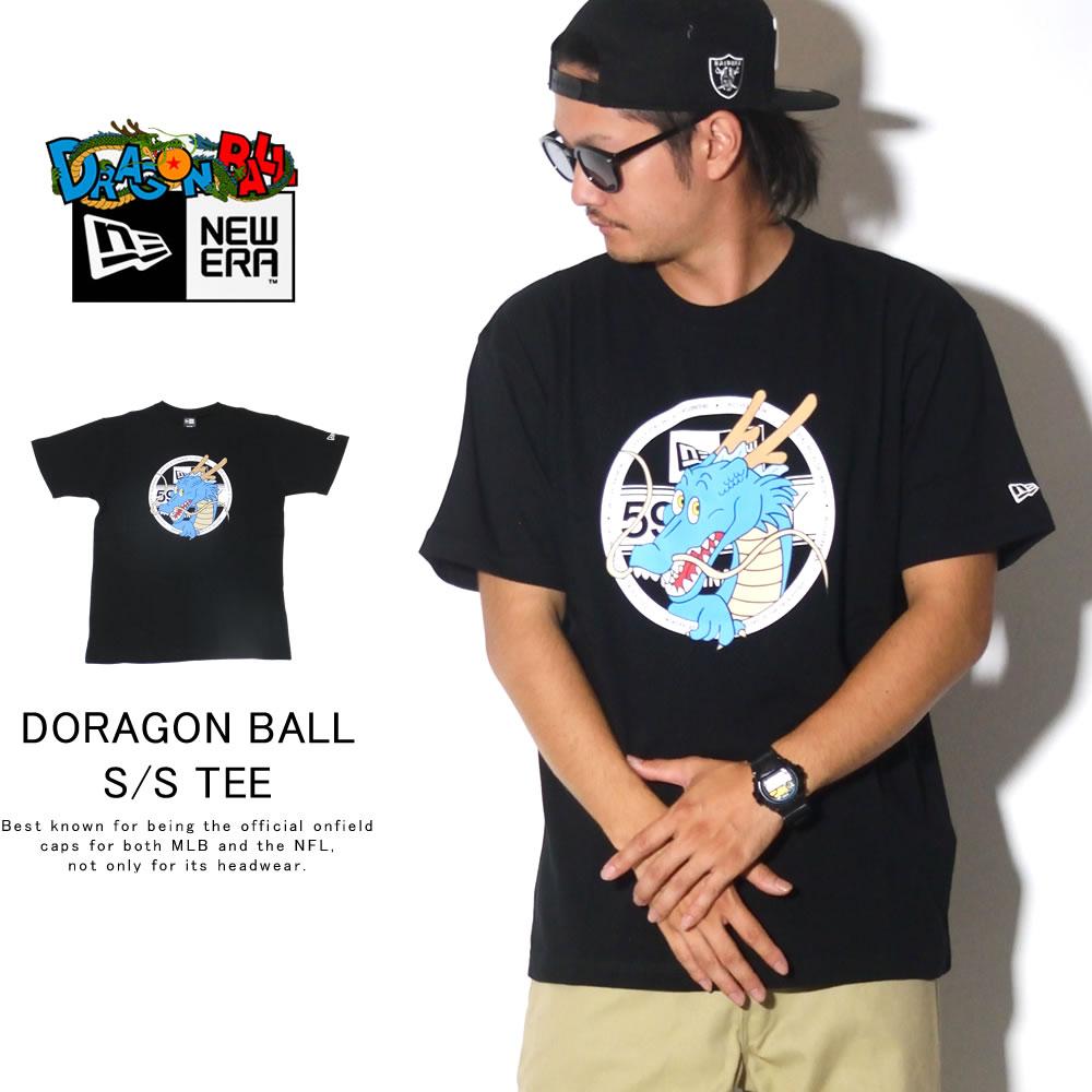 NEW ERA ニューエラ 半袖Tシャツ コットン Tシャツ DRAGONBALL ドラゴンボール バイザーステッカー ブラック 12110836
