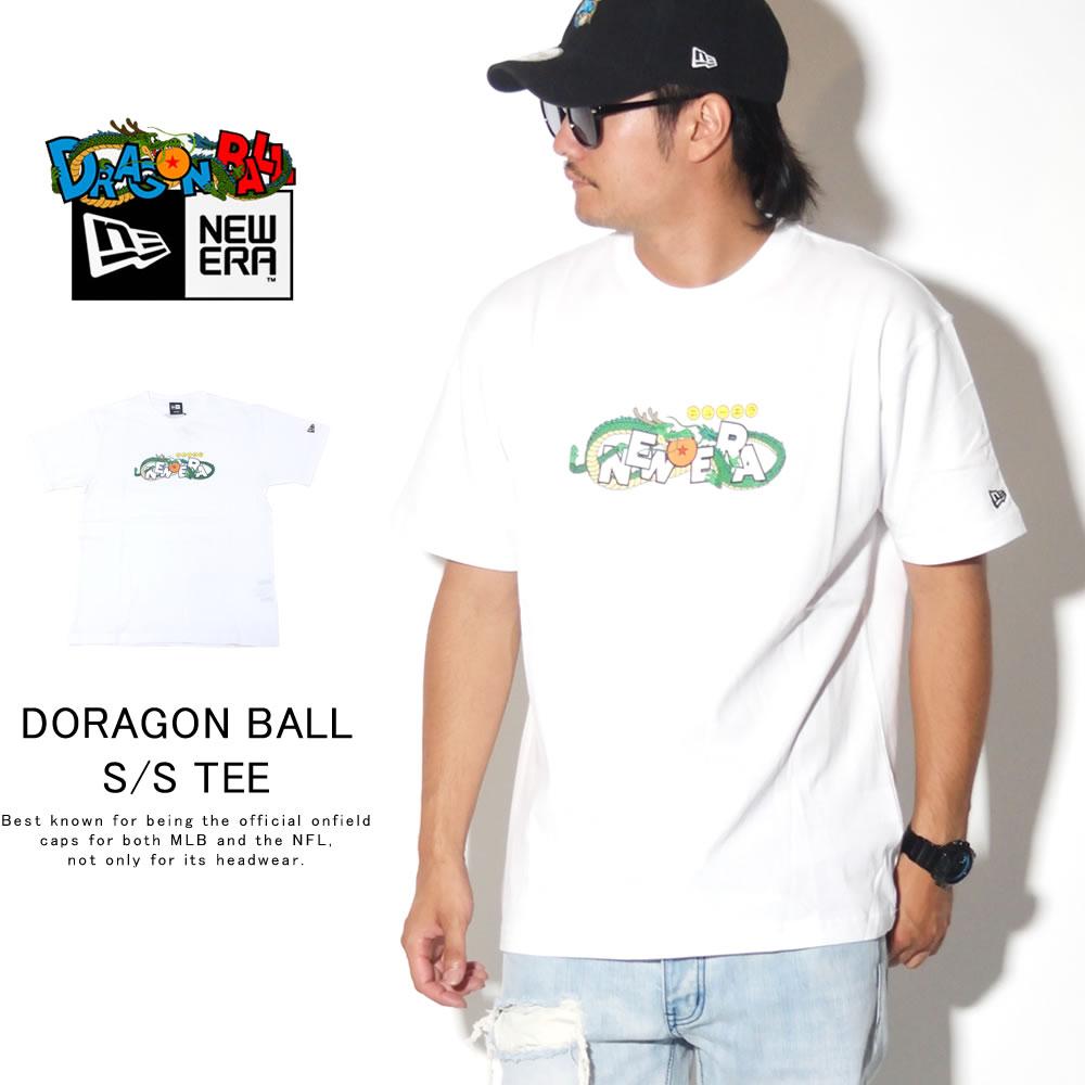 NEW ERA ニューエラ 半袖Tシャツ コットン Tシャツ DRAGONBALL ドラゴンボール タイトルロゴ ホワイト 12110839