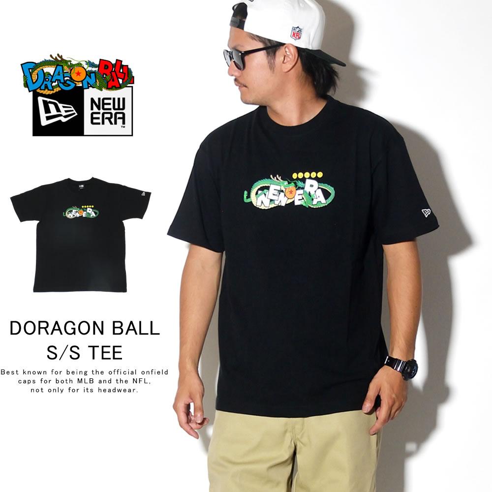 NEW ERA ニューエラ 半袖Tシャツ コットン Tシャツ DRAGONBALL ドラゴンボール タイトルロゴ ブラック 12110840