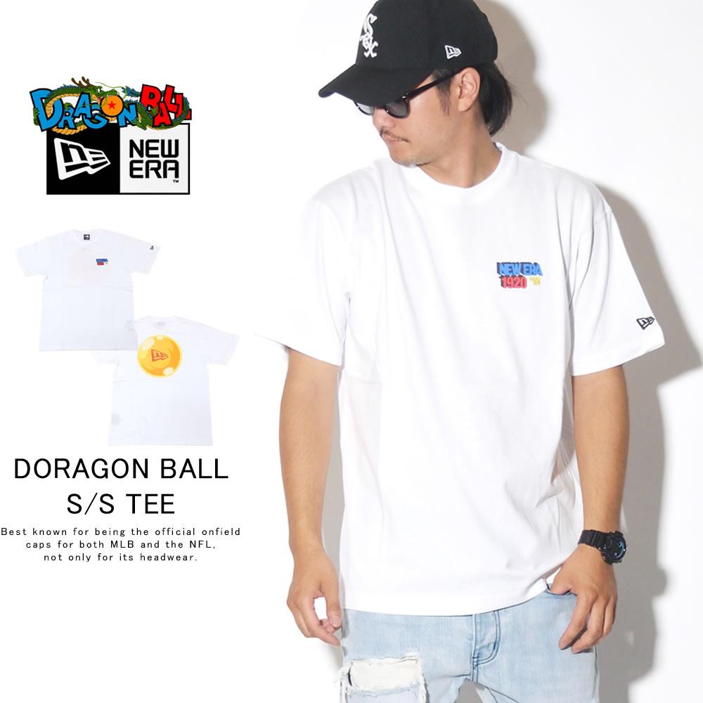 NEW ERA ニューエラ 半袖Tシャツ コットン Tシャツ DRAGONBALL ドラゴンボール フラッグロゴ ホワイト 12110843