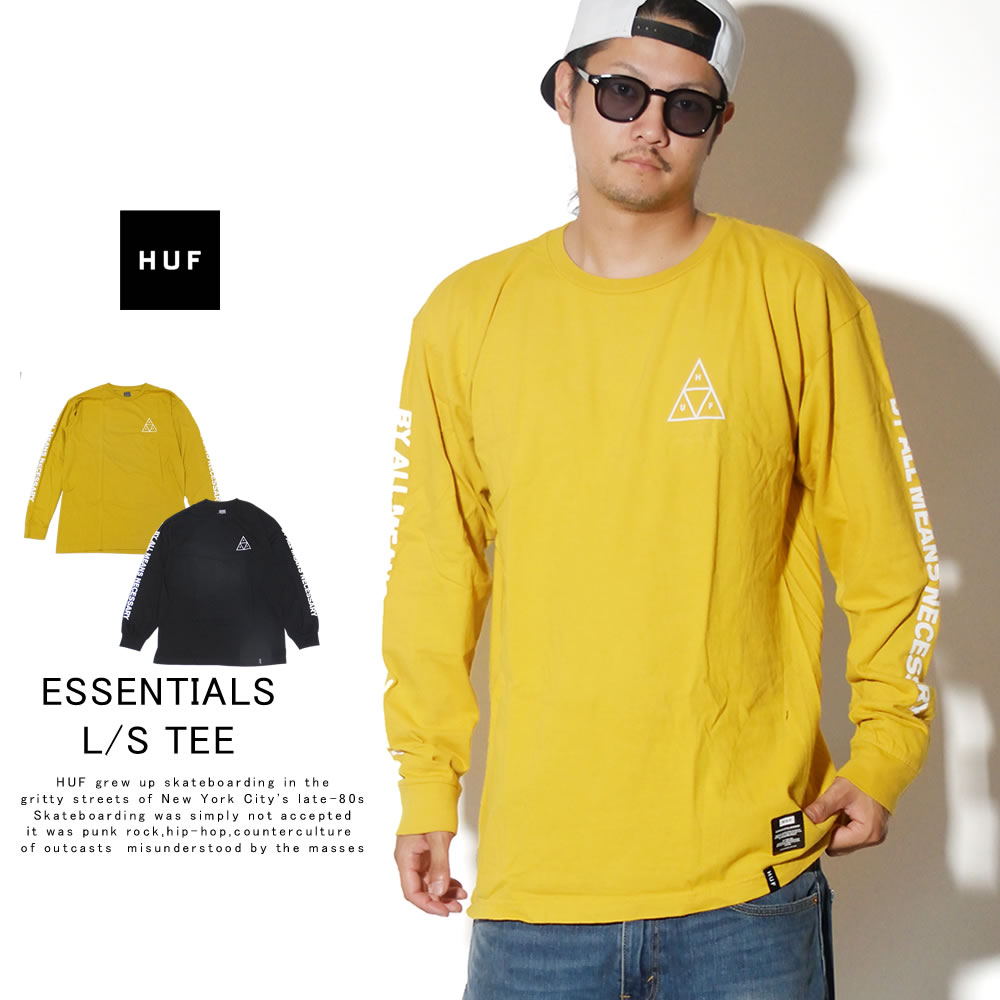 HUF ハフ 長袖Tシャツ ESSEMTIALS TT L/S TEE TS00506
