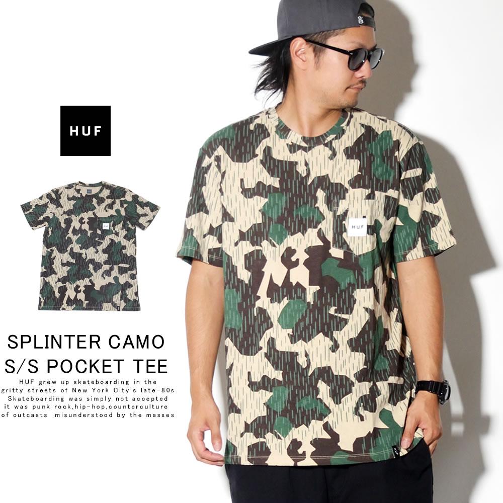 HUF ハフ 半袖Tシャツ SPLINTER CAMO S/S POCKET TEE TS00792