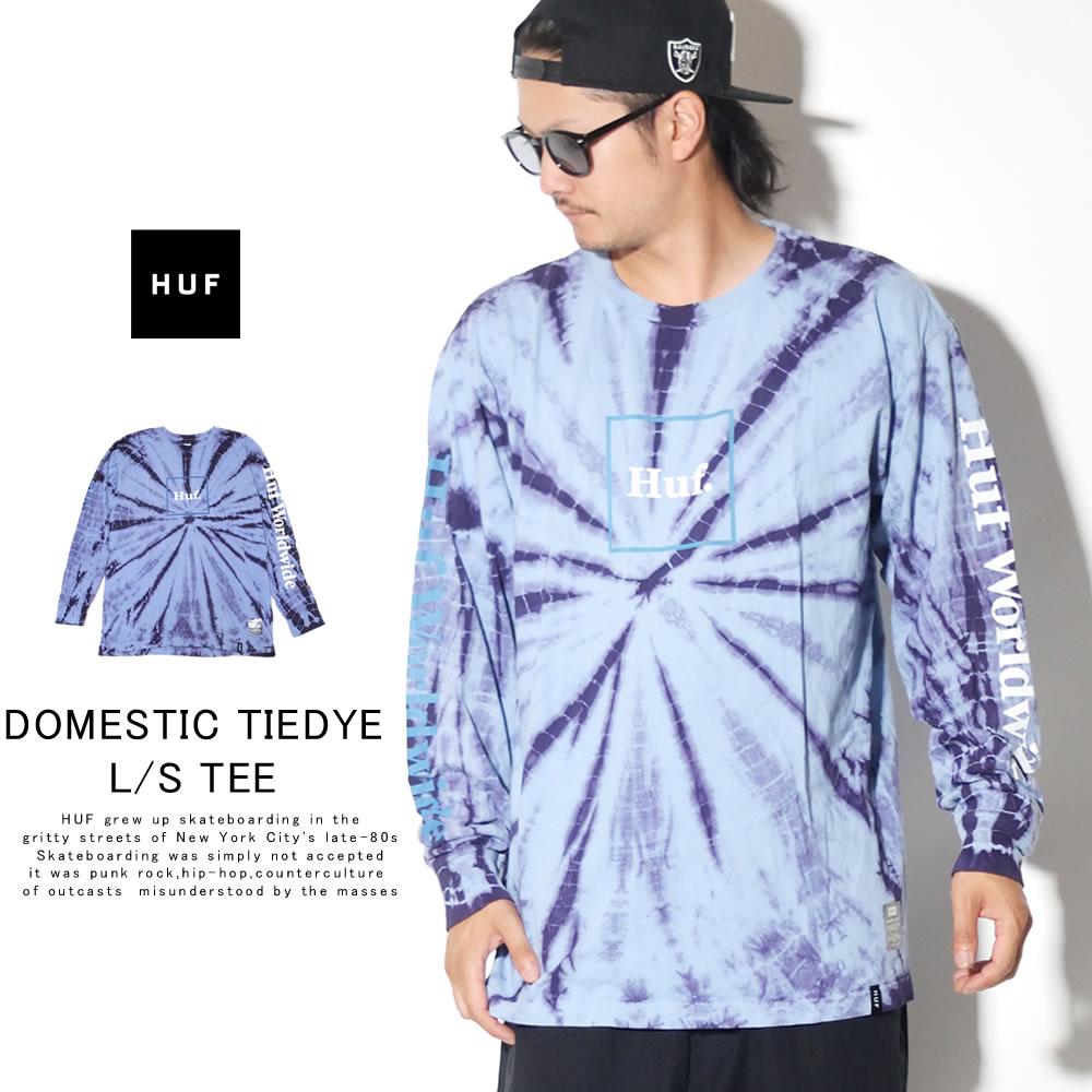 HUF ハフ 長袖Tシャツ DOMESTIC TIEDYE L/S TEE TS00870
