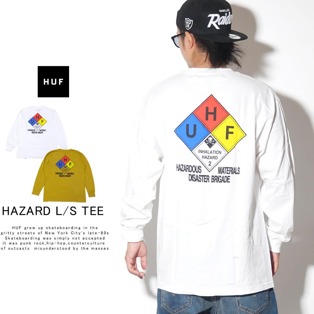 HUF ハフ 長袖Tシャツ HAZARD L/S TEE TS00873