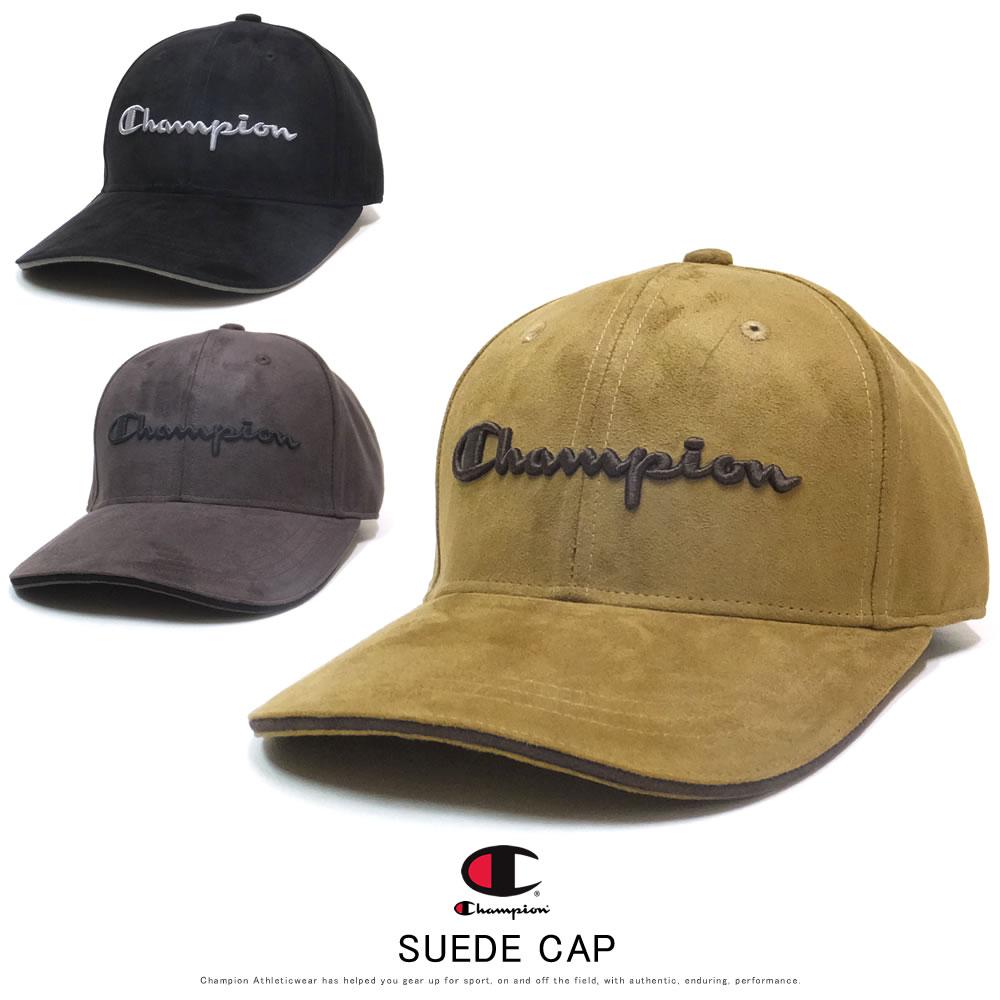CHAMPION チャンピオン カーブバイザーキャップ SUEDE CAP 381-001A