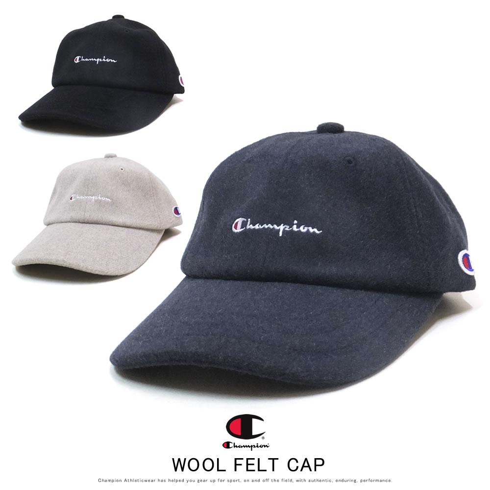 CHAMPION チャンピオン カーブバイザーキャップ WOOL FELT CAP 381-4039