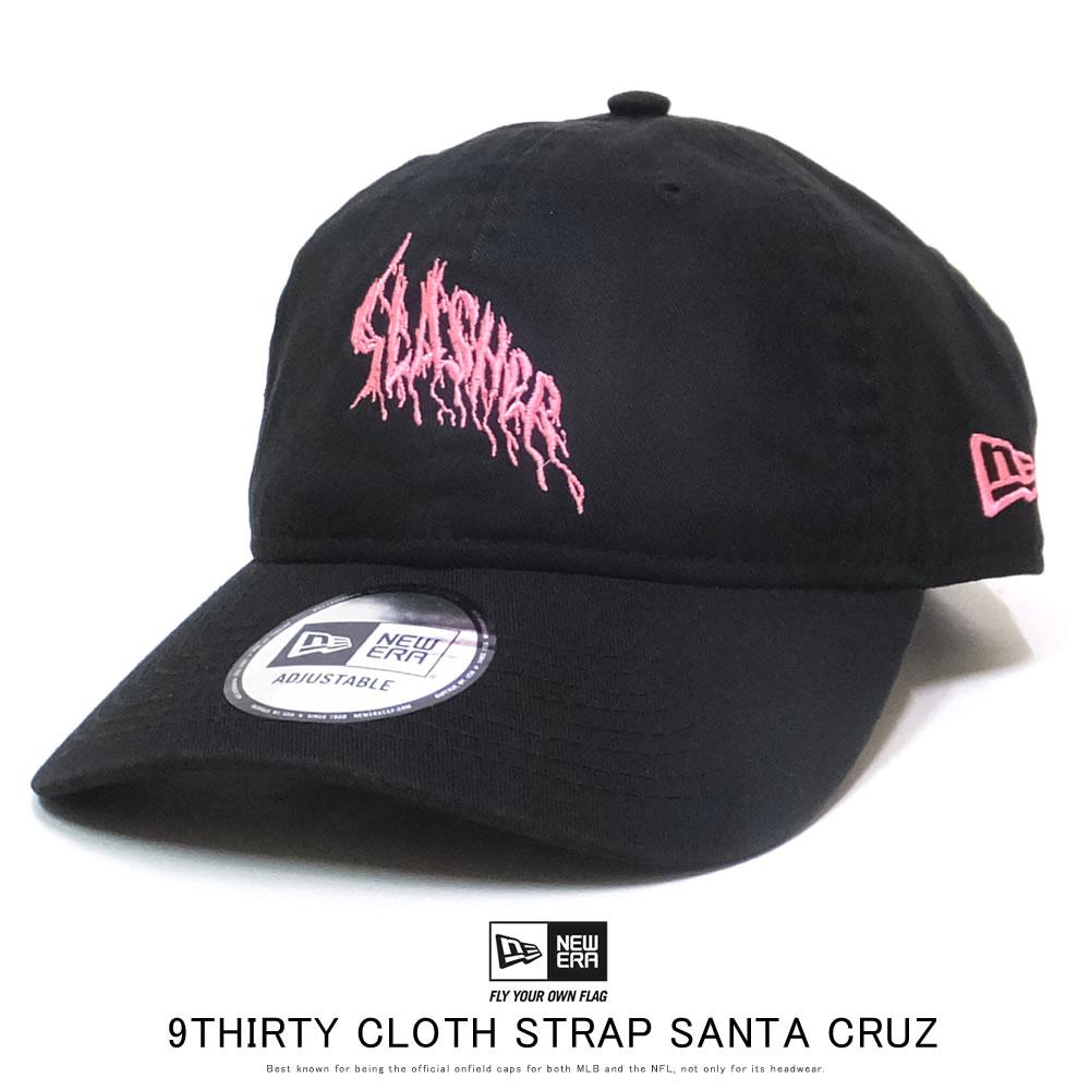 NEW ERA ニューエラ カーブバイザーキャップ 9THIRTY クロスストラップ Santa Cruz サンタクルーズ ブラック × ネオンピンク 12110781