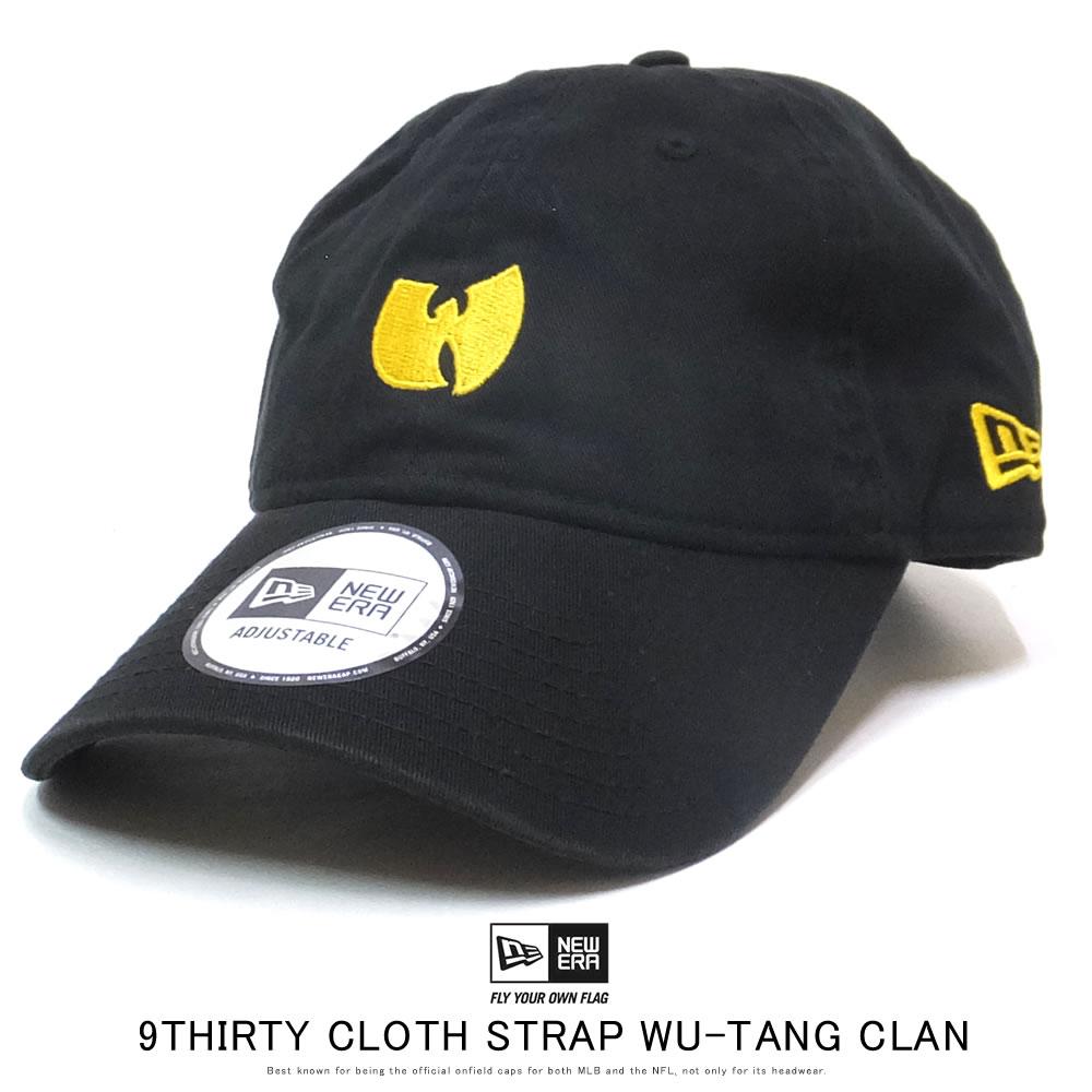 NEW ERA ニューエラ カーブバイザーキャップ 9THIRTY クロスストラップ WU-TANG CLAN ウータン・クラン ロゴ ブラック 12110790