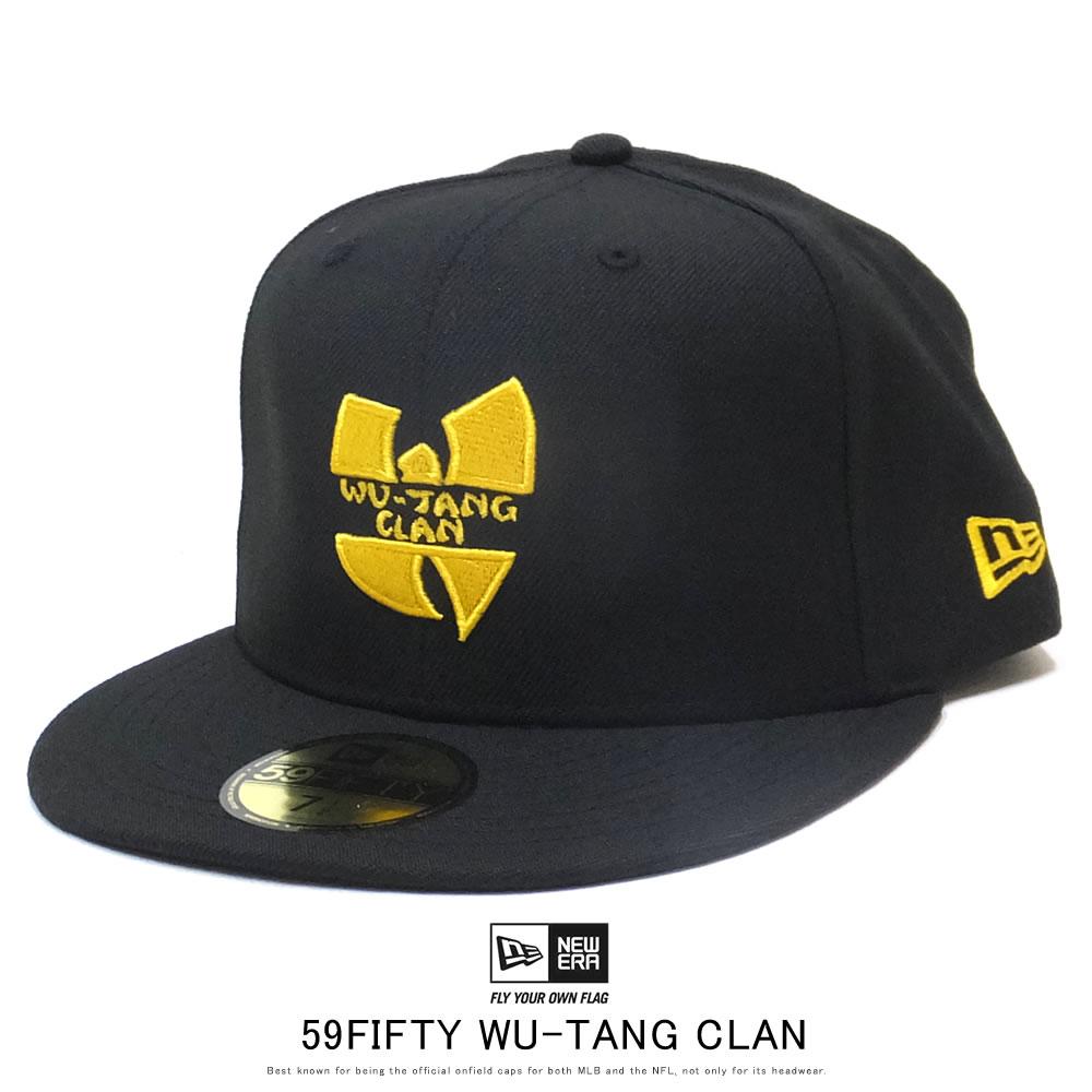 NEW ERA ニューエラ フラットバイザーキャップ 59FIFTY WU-TANG CLAN ウータン・クラン ロゴ ブラック 12110815