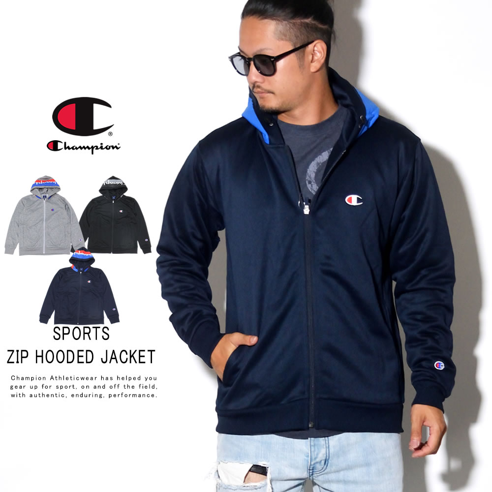 CHAMPION チャンピオン ジップパーカー SPORTS ZIP HOODED JAKCET C3-QS103
