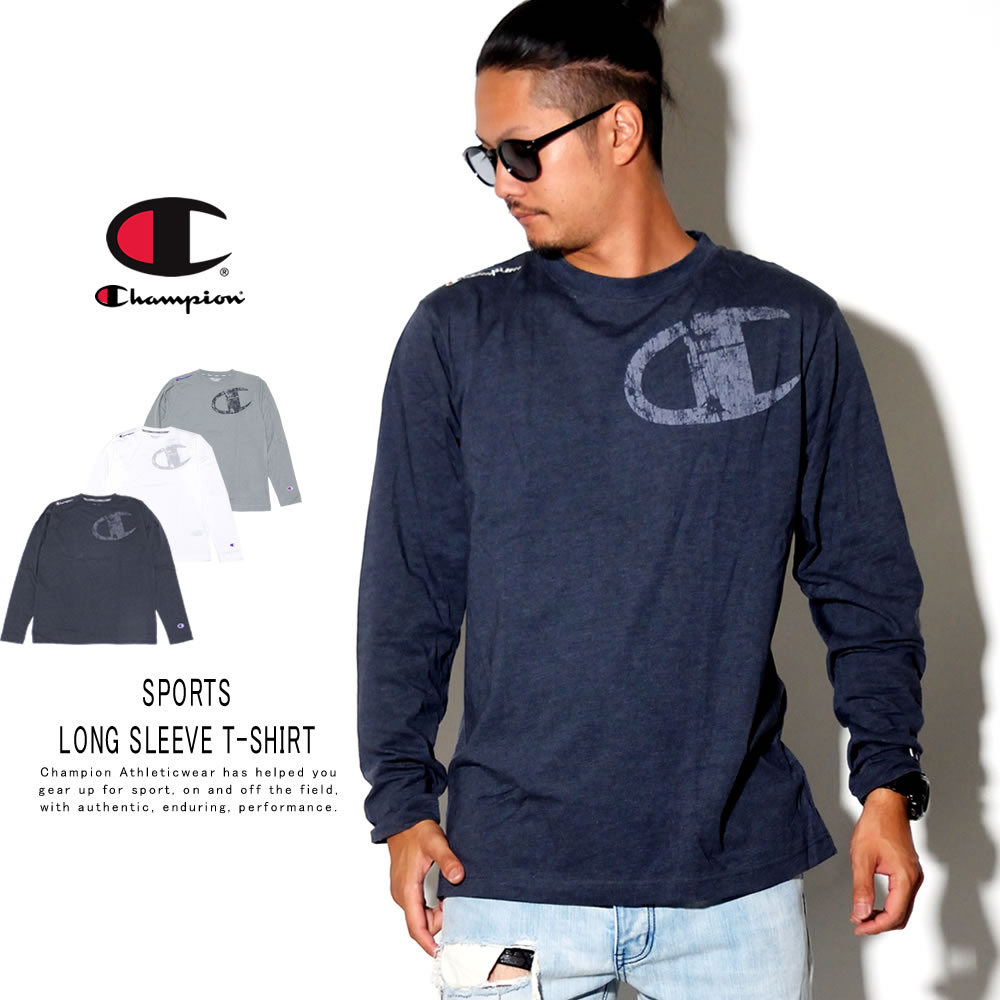 CHAMPION チャンピオン 長袖Tシャツ SPORTS LONG SLEEVE T-SHIRT C3-QS403