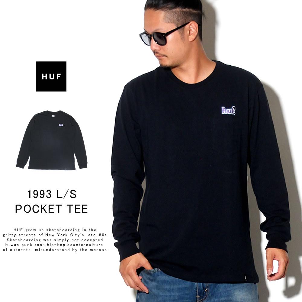 HUF ハフ 長袖Tシャツ 1993 L/S POCKET TEE TS00875