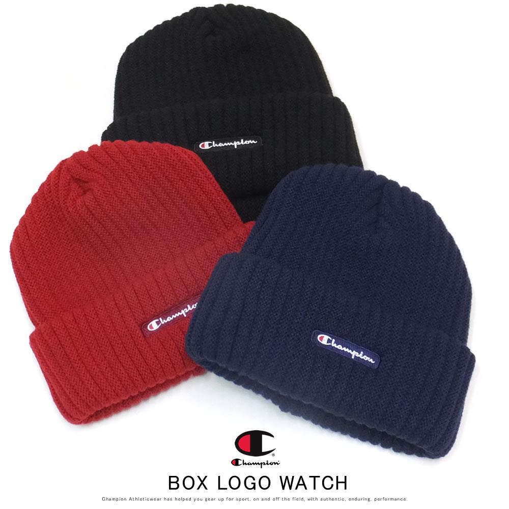 CHAMPION チャンピオン ニットキャップ カフニット BOX LOGO WATCH 492-1079