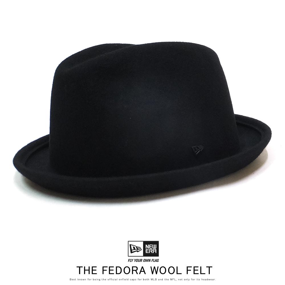 NEW ERA ニューエラ ハット フェドーラ ウールフェルト WOOL FELT ブラック 12108717