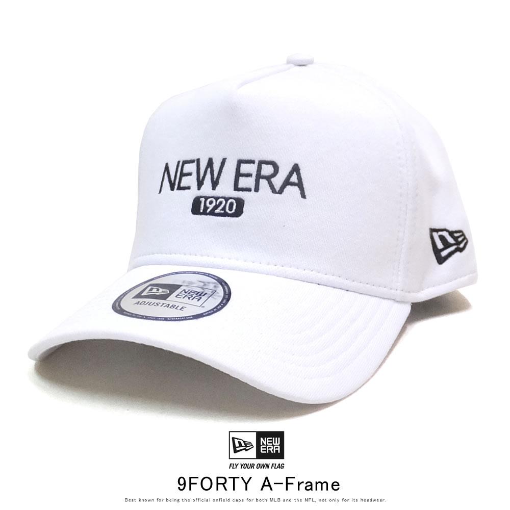NEW ERA ニューエラ カーブバイザーキャップ 9FORTY A-Frame スウェット ニューエラ 1920 ホワイト × スノーホワイト ブラック 12108927