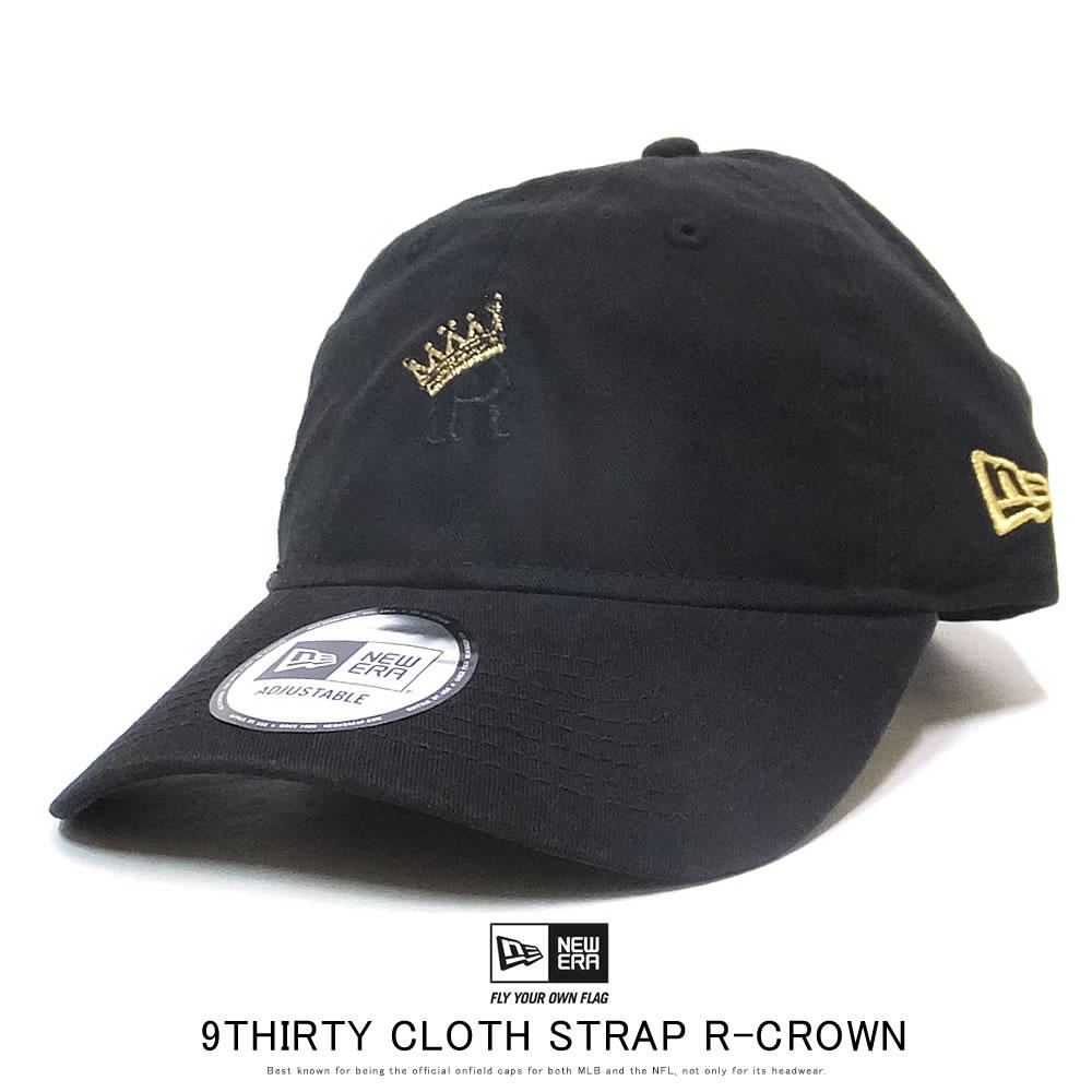 NEW ERA ニューエラ カーブバイザーキャップ 9THIRTY R-クラウン Kingston ブラック × ブラック/ゴールド 12119357