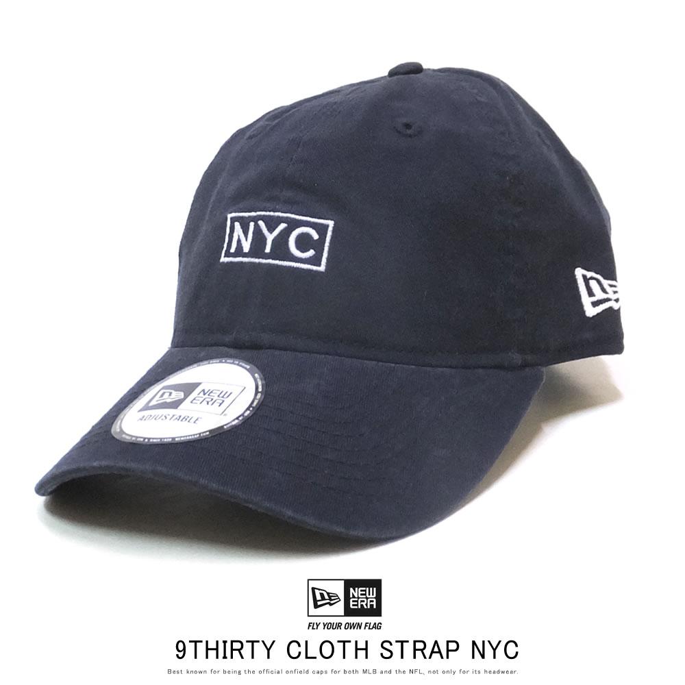 NEW ERA ニューエラ カーブバイザーキャップ 9THIRTY ニューヨーク NYC ボックス ネイビー 12119370