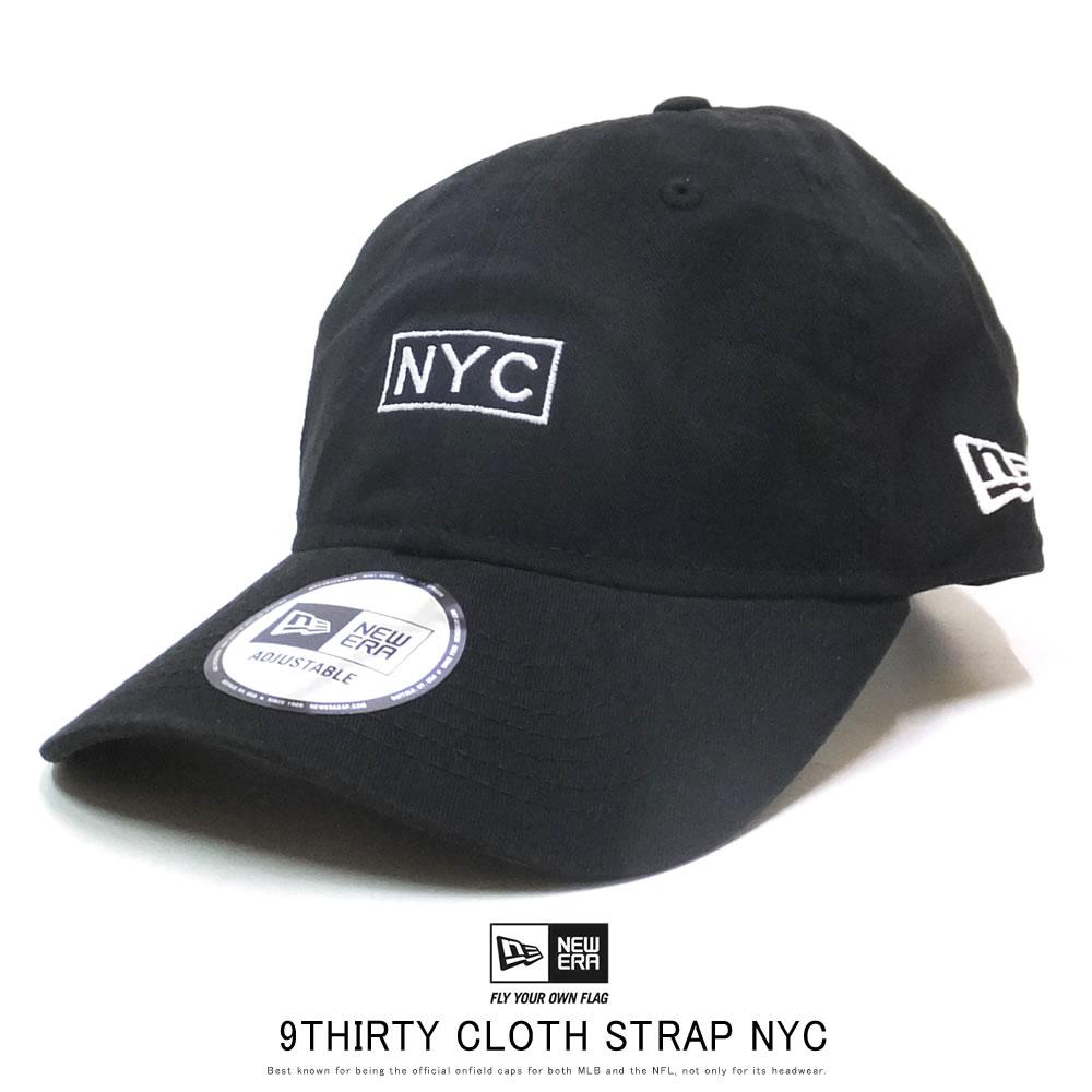 NEW ERA ニューエラ カーブバイザーキャップ 9THIRTY ニューヨーク NYC ボックス ブラック 12119372