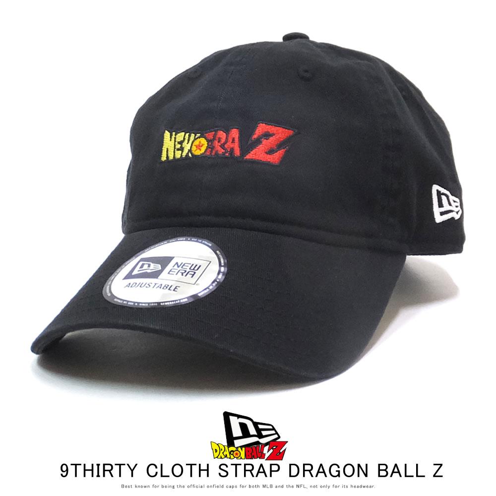 NEW ERA ニューエラ カーブバイザーキャップ 9THIRTY クロスストラップ ドラゴンボールZ タイトルロゴ ブラック 12110795