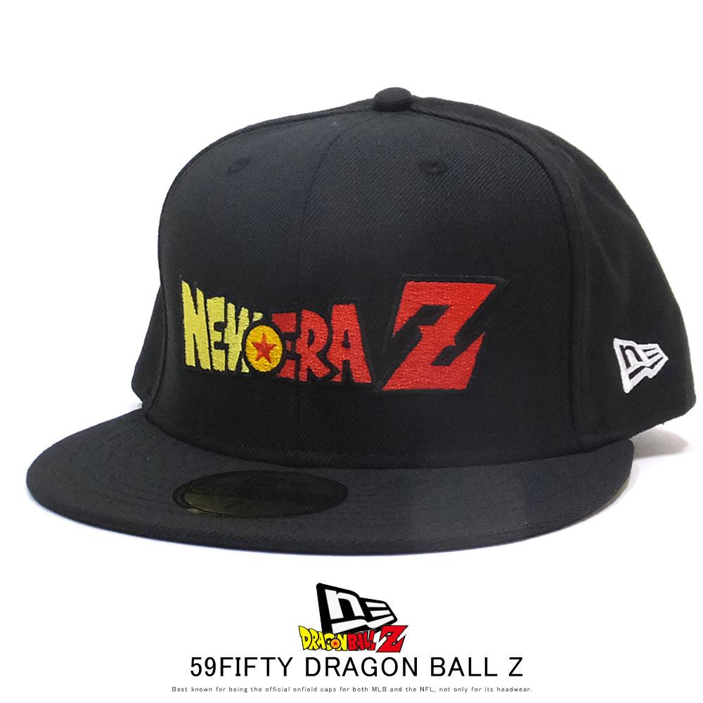 NEW ERA ニューエラ フラットバイザーキャップ 59FIFTY ドラゴンボールZ タイトルロゴ ブラック 12110821