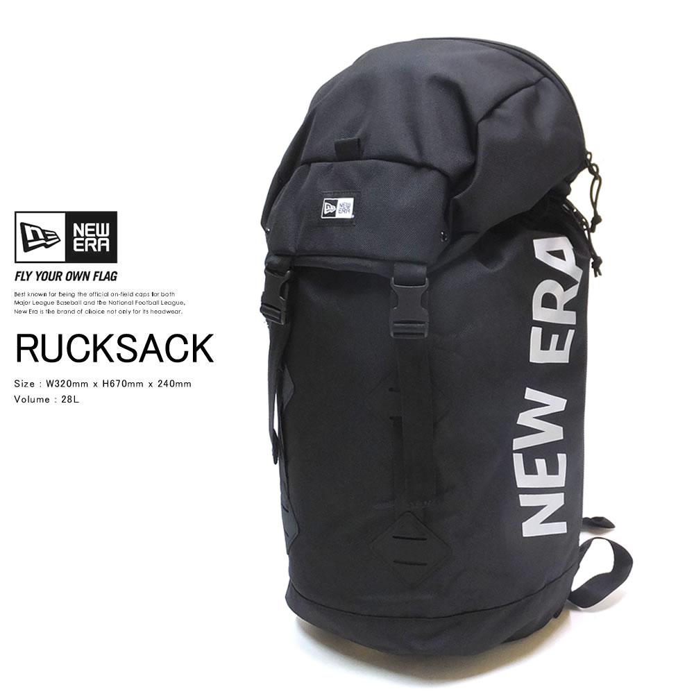 NEW ERA ニューエラ バックパック ラックサック 28L プリントロゴ ブラック × リフレクトシルバー 12108419