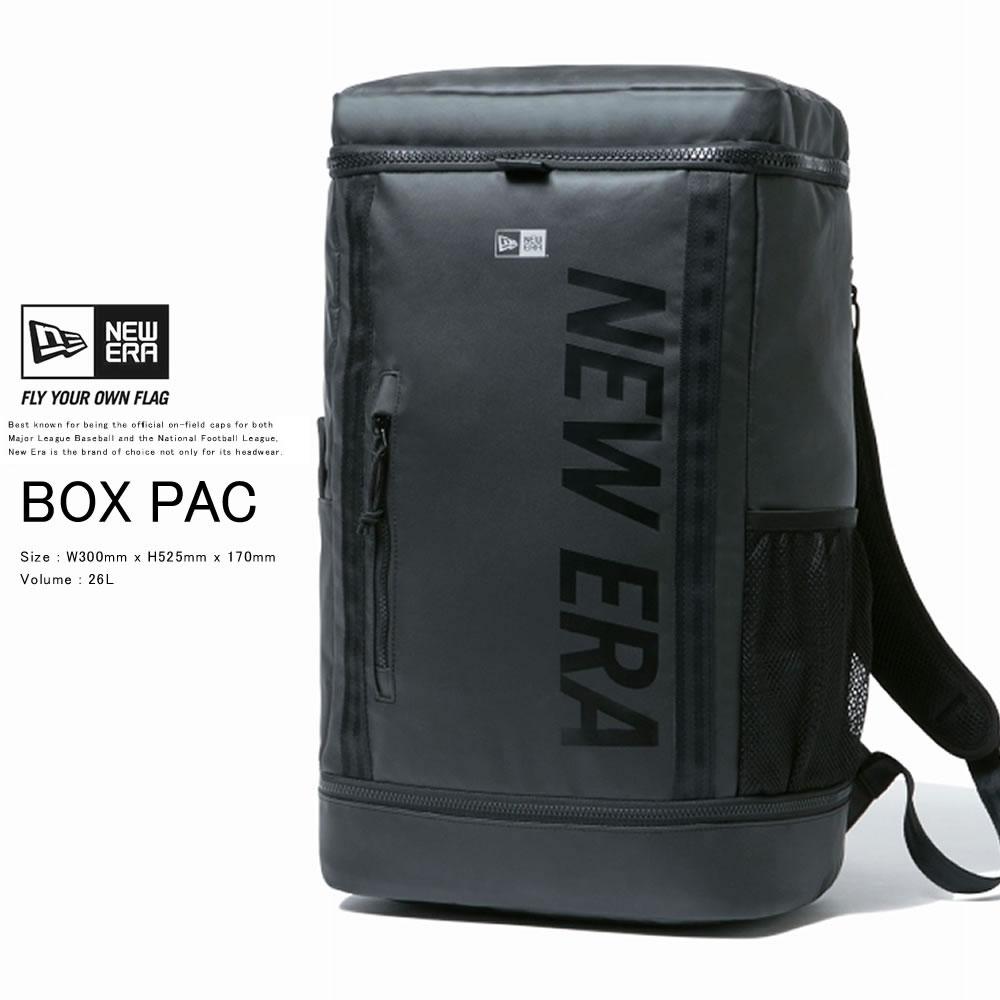 NEW ERA ニューエラ バックパック ボックスパック 26L プリントロゴ ブラックターポリン × ブラック 12108789