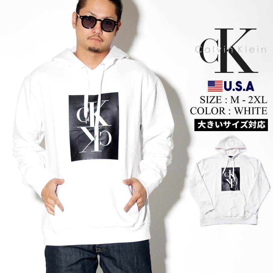 CALVIN KLEIN カルバンクライン パーカー メンズ ボックス CK ロゴ カジュアル ストリート系 ファッション 41T9130 服 通販