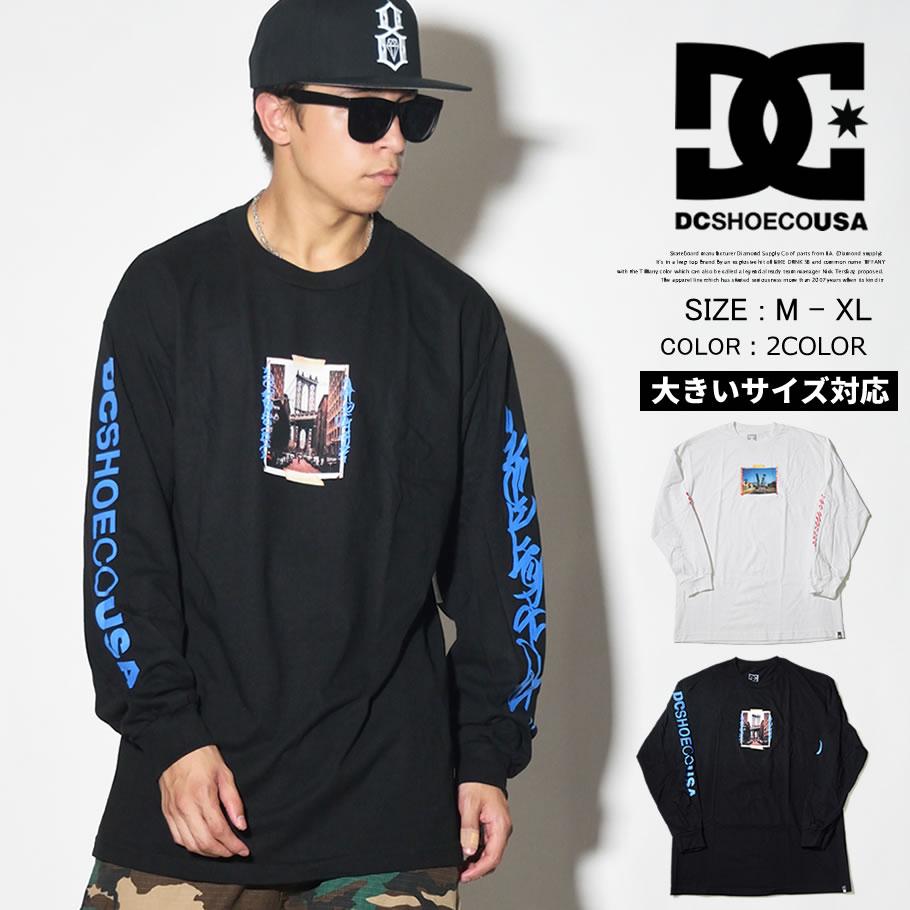 DC SHOES ディーシーシューズ ロンT 長袖 Tシャツ メンズ フォトプリント ロゴ スケボー スケーター ファッション ADYZT04395 服 通販 DCTT051