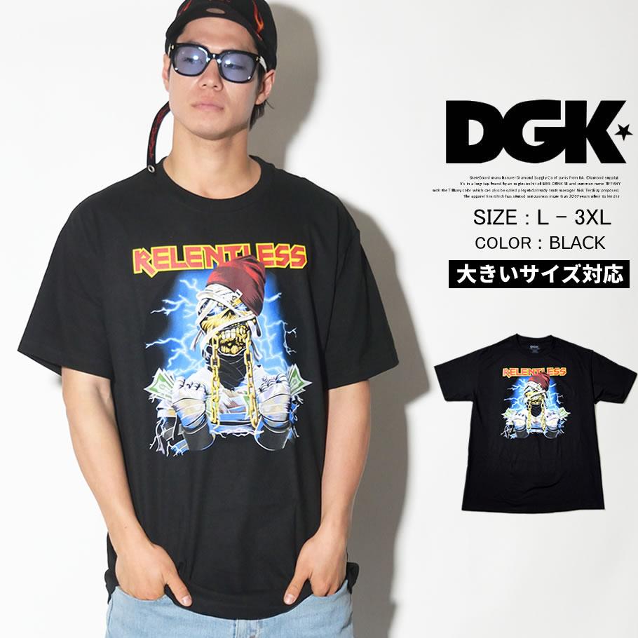 DGK ディージーケー 半袖Tシャツ メンズ 大きいサイズ ストリート系 スケーター ヒップホップ ファッション Relentless T-Shirt DT-4137 DGTT168