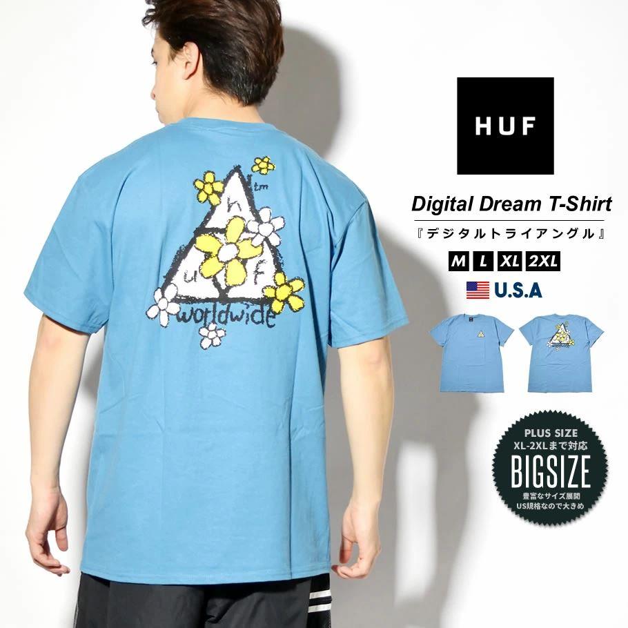 HUF ハフ Tシャツ メンズ レディース 半袖 USAモデル PUSHING DAISIES TT S/S TEE コロニアルブルー TS01339 2021 春夏 新作