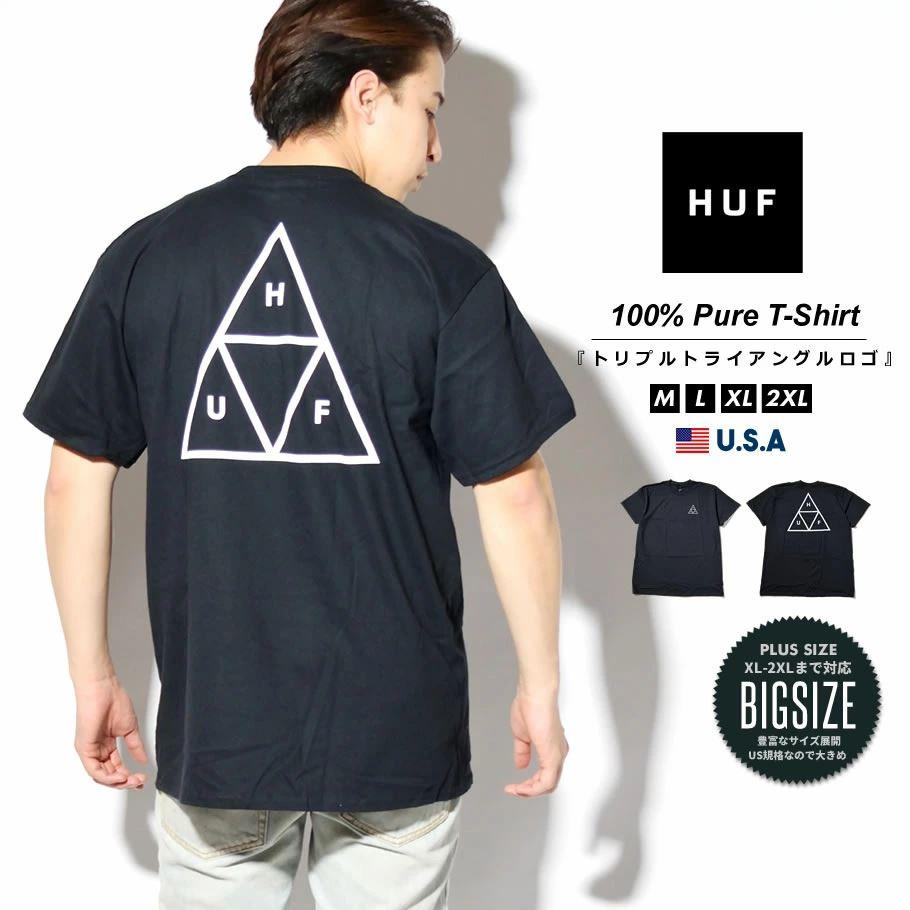 HUF ハフ Tシャツ メンズ レディース 半袖 USAモデル ESSENTIALS TT S/S TEE ブラック TS00509 2021 春夏 新作
