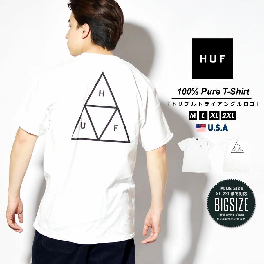 HUF ハフ Tシャツ メンズ レディース 半袖 USAモデル ESSENTIALS TT S/S TEE ホワイト TS00509 2021 春夏 新作